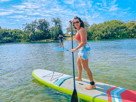 Woman on a Stand Up Paddle Board